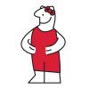 Omino dell'IKEA travestito da personaggi di cartoni animati
